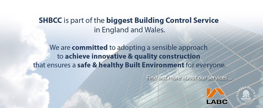 Find out more about Surrey Heath Building Control Consultancy
